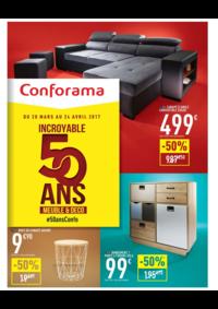 Prospectus Conforama COLOMBES : Incroyable 50 ans Meuble & Déco