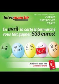 Prospectus Intermarché Bois-de-Villers : En avril, la carte Intermarché vous fait gagner 533 euros !