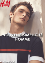 Catalogues et collections H&M : Lookbook homme Nouvelle simplicité