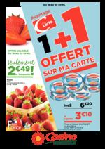 Prospectus Supermarchés Casino : 1+1 offert sur ma carte