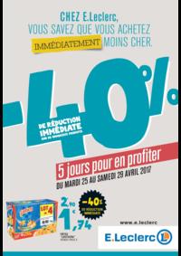 Prospectus E.Leclerc MASSY : -40% de réduction immédiate