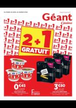Prospectus Géant Casino : 2+1 gratuit