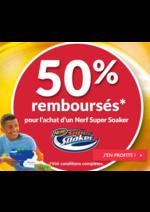 Promos et remises La grande Récré : 50% remboursés pour l'achat d'un Nerf Super Soaker