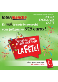 Prospectus Intermarché Ath : En mai, la carte Intermarché vous fait gagner 915 euros !