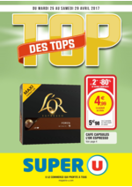 Prospectus Super U : Top des tops