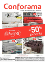 Folhetos Conforama : Até -50% em sofás