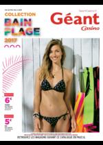 Prospectus Géant Casino : Collection bain plage 2017