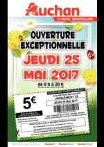 Prospectus Auchan : Ouverture exceptionnelle jeudi 25 mai 2017