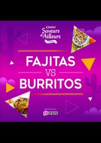 Prospectus Supermarchés Casino PARIS 352 RUE LECOURBE : Fajitas VS Burritos