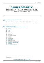 Prospectus  : Cahier des prix - destinations soleil été