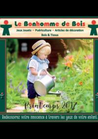 Catalogues et collections Le bonhomme de bois Malesherbes Paris 8ème : Feuilletez le catalogue printemps 2017