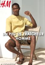 Catalogues et collections H&M : Lookbook homme Un peu de fraîcheur