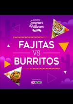 Prospectus Supermarchés Casino : Fajitas VS Burritos