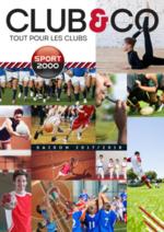 Catalogues et collections Sport 2000 : Club & Co - tout pour les clubs 2017-2018