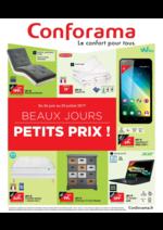 Prospectus Conforama : Beaux jours petits prix !