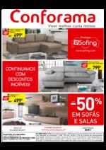 Folhetos Conforama : Até -50% em sofás e salas