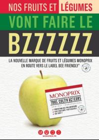Journaux et magazines Monoprix NANTERRE : Nos fruits et légumes vont faire le BZZZZZZ