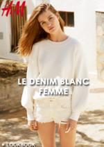 Catalogues et collections H&M : Lookbook femme Le denim blanc
