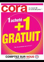 Prospectus Cora : 1 acheté + 1 gratuit