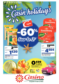 Prospectus Supermarchés Casino PARIS 352 RUE LECOURBE : Casin' holidays