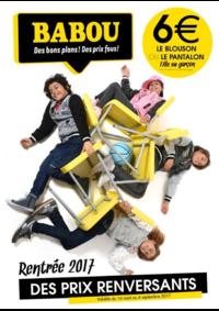 Prospectus Babou Épinay-sur-Seine : Rentrée 2017 - Des prix renversants