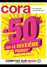 Prospectus Cora ARCUEIL : -50% sur le deuxième produit