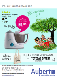 Prospectus Aubert PARIS 16 Avenue de la Porte des Lilas : Délicieusement été !
