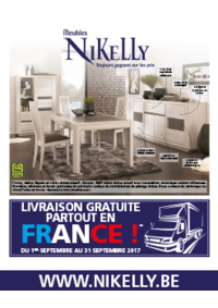 Prospectus Meubles Nikelly : Livraison gratuite partout en France !