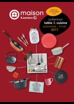 Prospectus E.Leclerc : Collection table et cuisine automne hiver 2017