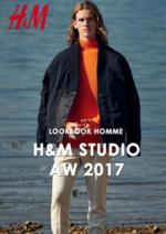 Catalogues et collections H&M : Lookbook homme H&M Studio automne hiver 2017