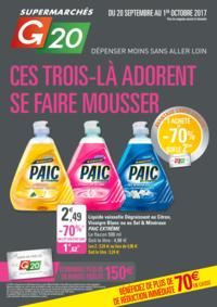 Prospectus G20 PARIS 1 Louvre : Ces trois-là adorent se faire mousser