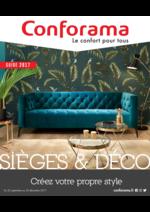 Guides et conseils Conforama : Guide 2017 Sièges et déco