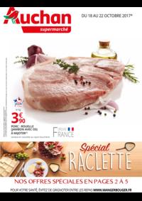 Prospectus Auchan Supermarché Paris 12 Daumesnil : Spécial raclette