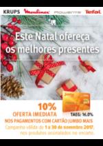 Promoções e descontos Jumbo : Electrodomésticos 10% Oferta Imed. Cartão Jumbo