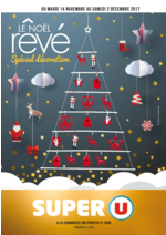 Prospectus Super U : Le Noël rêvé spécial décoration