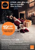 Prospectus Orange : A Noël, aller plus vite que la musique avec la Fibre