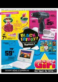 Prospectus Gifi VILLEMOMBLE : Black friday ! Des prix complètement barrés !