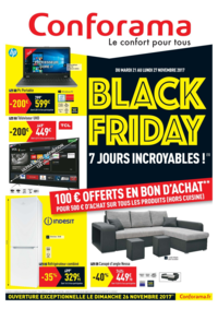 Prospectus Conforama CLERMONT FERRAND : Black friday 7 jours incroyables !