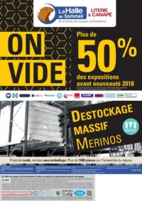 Prospectus La Halle au Sommeil BONNEUIL SUR MARNE : On vide plus de 50% des expositions avant nouveauté 2018