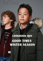 Catálogos e Coleções Lefties : Lookbook Boy - Good times - Winter season