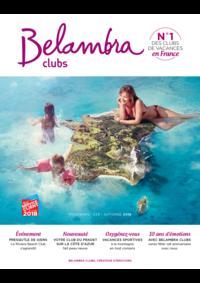 Catalogues et collections Belambra Clubs Paris 13 : Brochure printemps-été-automne 2018