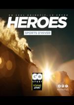 Guides et conseils  : Guide Go Sport Heroes Sports d'hiver