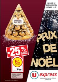 Prospectus U Express PARIS - R. MONTREUIL : Prix de Noël
