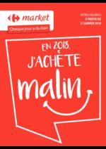 Prospectus Carrefour Market : En 2018 j'achète malin