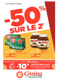 Prospectus Supermarchés Casino CHAVILLE : -50% sur le 2ème