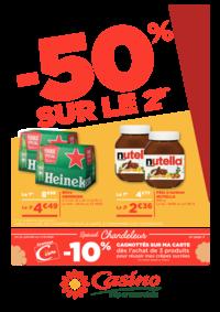 Prospectus Supermarchés Casino PARIS 28 - 34 rue de Ménilmontant : -50% sur le 2ème