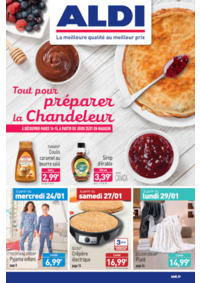 Prospectus Aldi Asnières-sur-Seine : Tout pour préparer la Chandeleur