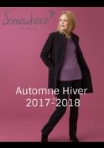 Catalogues et collections Somewhere : Les silhouettes femme automne hiver 2017-2018