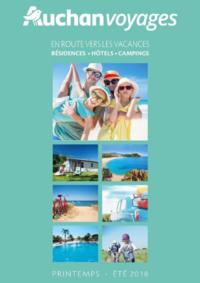 Catalogues et collections Voyages Auchan Toulouse : Brochure printemps été En route vers les vacances