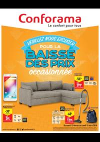 Promos et remises Conforama COLOMBES : Conforama baisse les prix